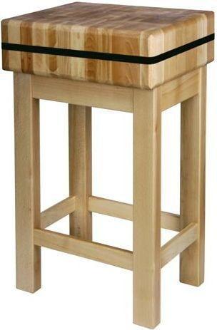 Kloc masarski 400x400 drewniany na podstawie drewnianej 110 mm 505618