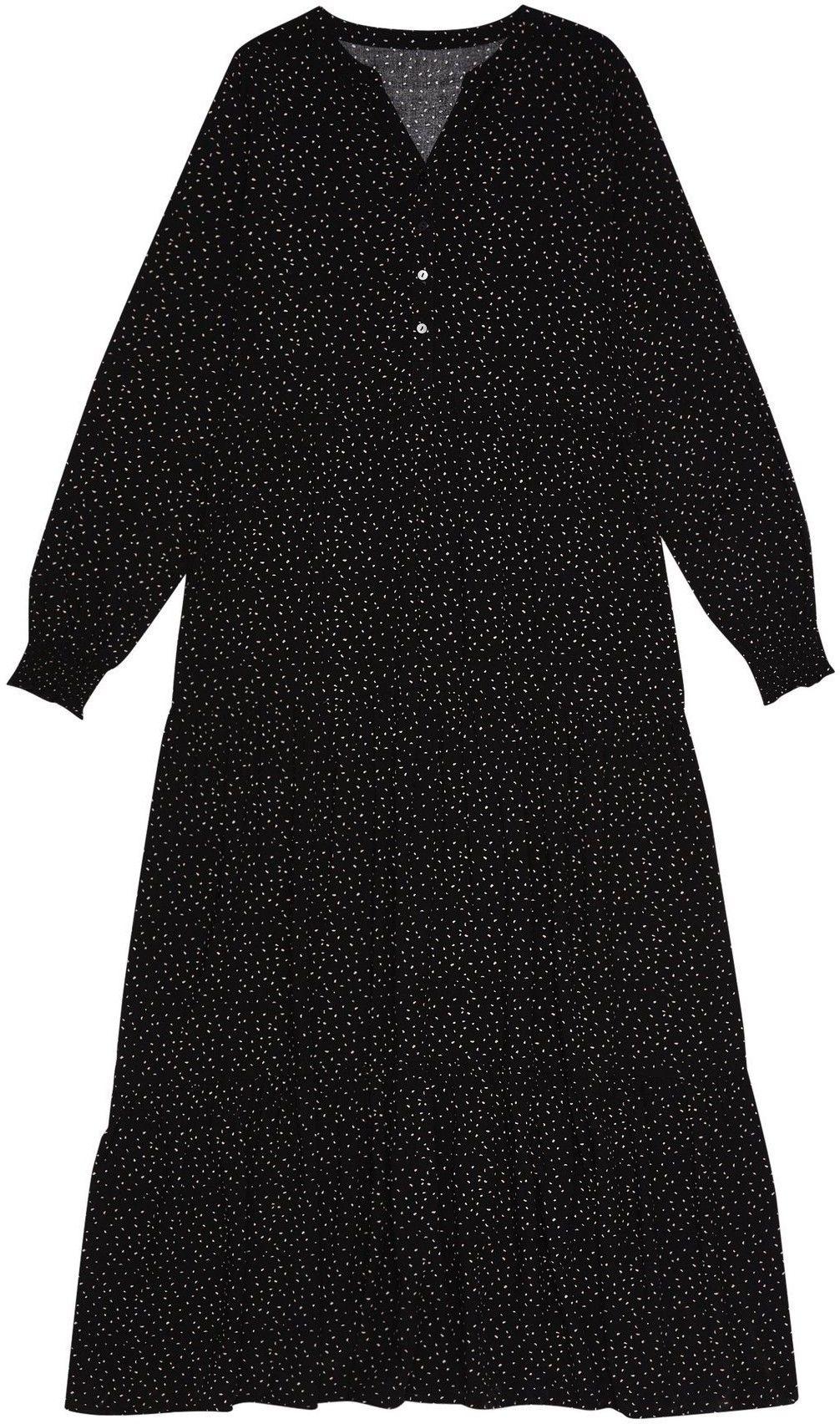 Sukienka w stylu retro z bufiastymi rękawami