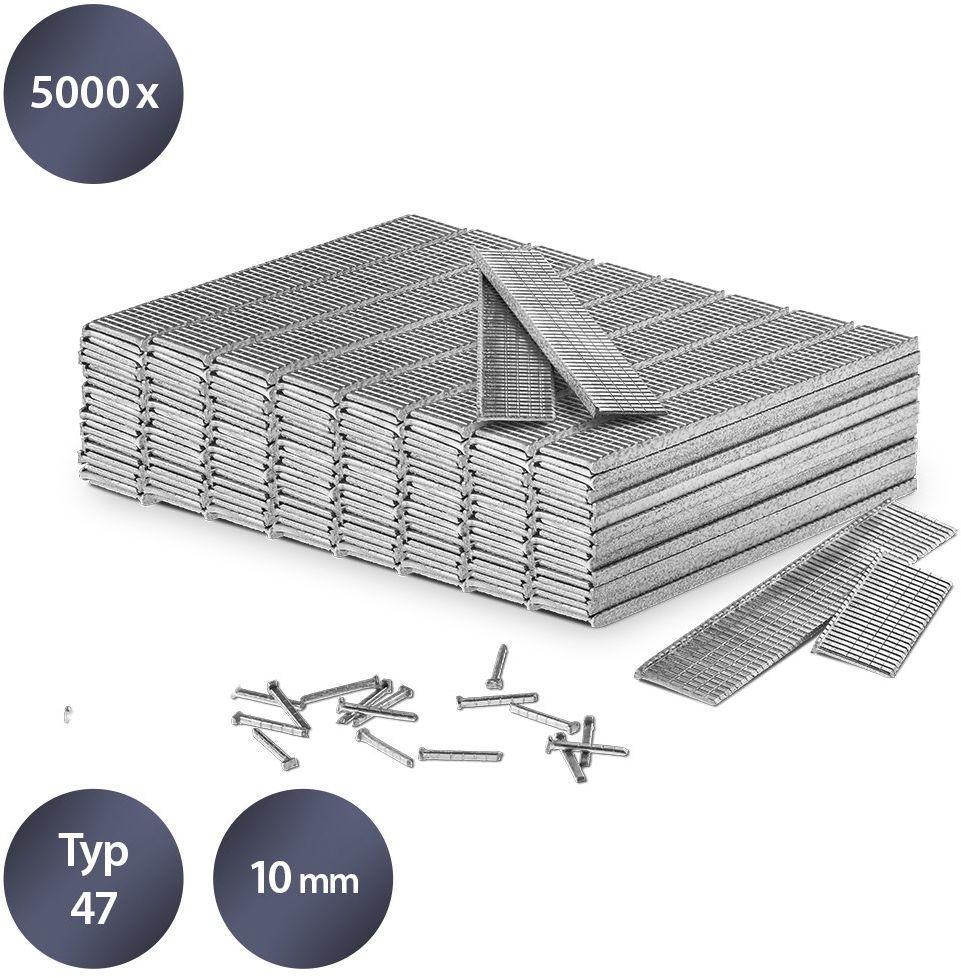 Zestaw gwoździ do zszywacza rodzaj 47, długość 10 mm (5000 sztuk)