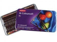Zestaw Kredek Derwent ColourSoft 36 kolorów (Metalbox)