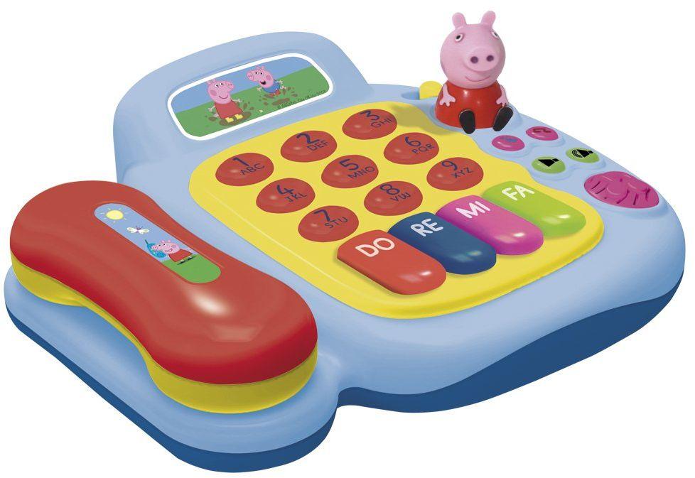 Reig 2331 - Peppa Pig telefon i pianino z figurkami