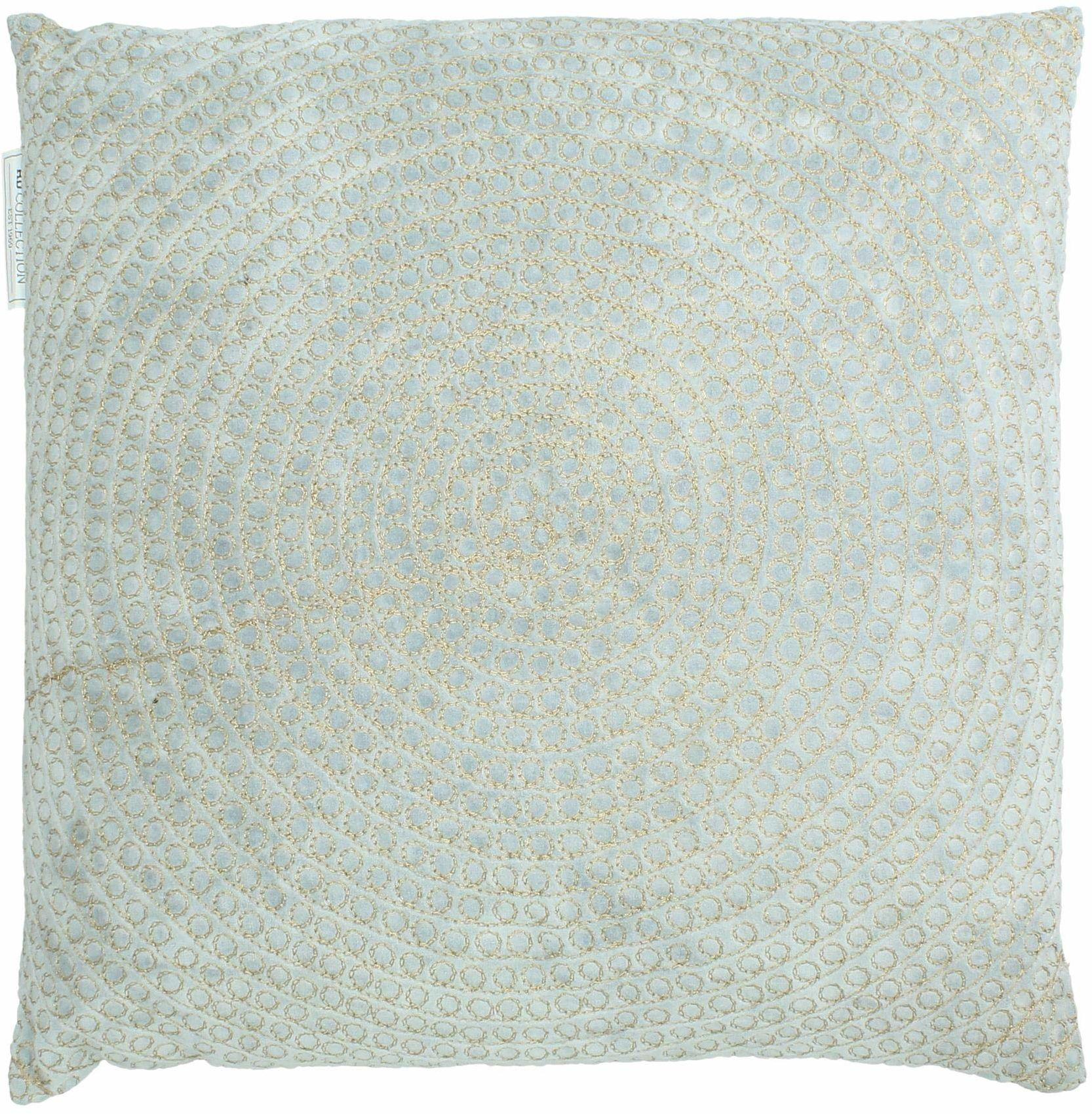 Poduszka ozdobna z wypełnieniem  aksamit  niebieska  45 x 45 cm