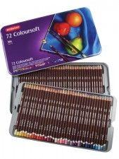 Zestaw Kredek Derwent ColourSoft 72 kolory (Metalbox)