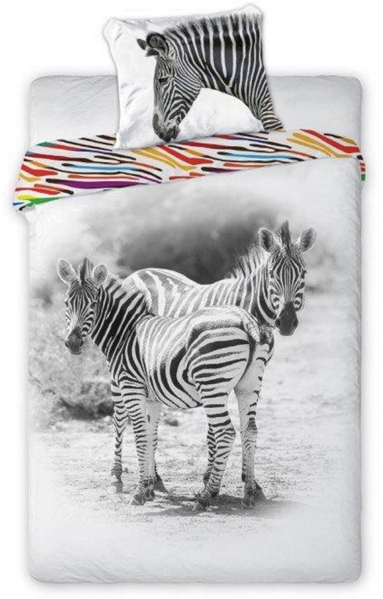 Pościel Młodzieżowa 160x200 Zebry Zebra Wild