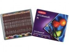 Zestaw Kredek Derwent ColourSoft 24 kolory (Metalbox)
