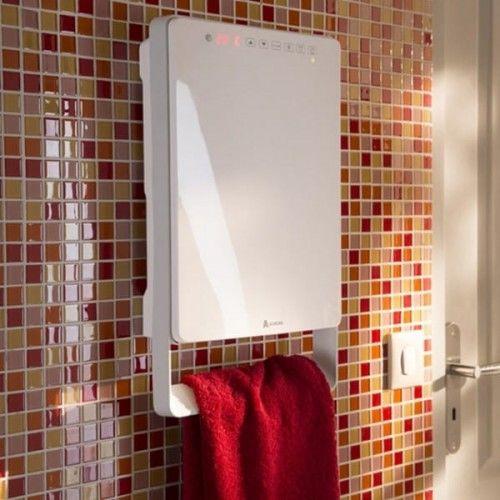 Elektryczny grzejnik łazienkowy z termostatem tygodniowym, Głębokość 11cm, z suszarką do ręczników 1800W
