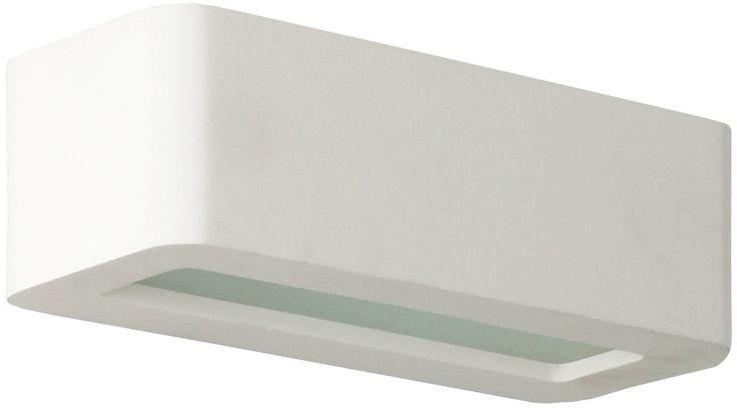 Lampex Aron 694/1 BIA kinkiet lampa ścienna nowoczesna gipsowa biała 1x40W G9 22cm