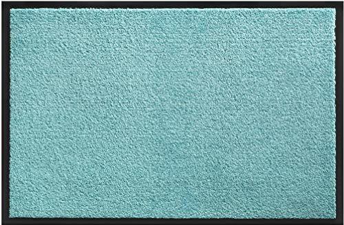 Wycieraczka Candy ochrona przed kurzem z polipropylenu do użytku we wnętrzach, kolor lazurowy, 60 x 90 cm