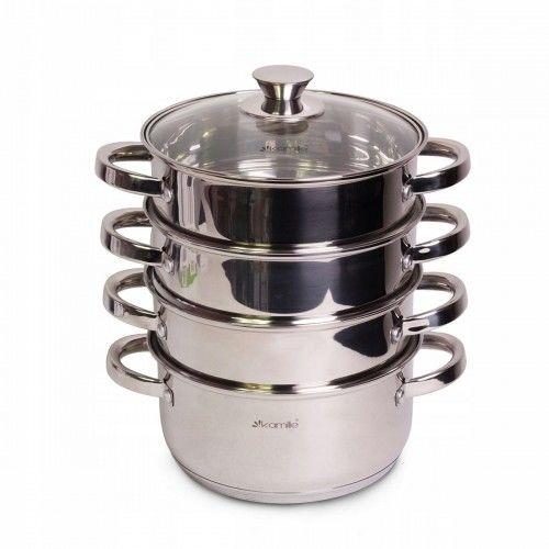 Garnek ze stali parowar do gotowania na parze 4,5L 5el.