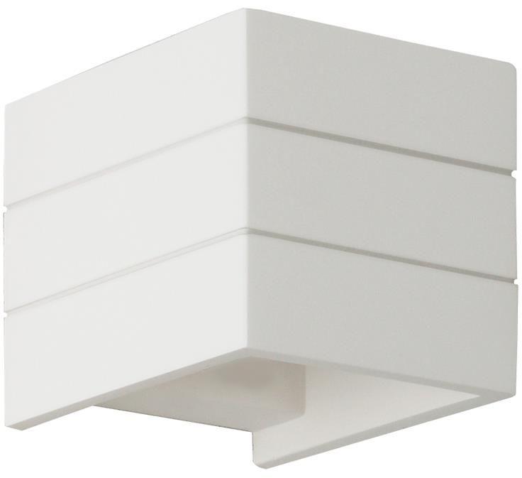 Lampex Kris 701/1 BIA kinkiet lampa ścienna nowoczesna gipsowa biała 1x40W G9 11cm