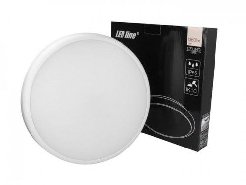 Plafon LED LEDline LUNAR 16W 230V IP65 4000K - biała dzienna