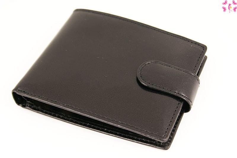 Skórzany portfel męski czarny pm320