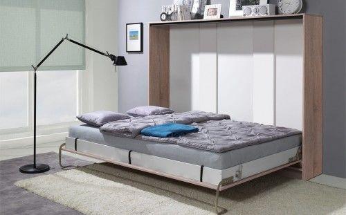 Łóżko w szafie poziome