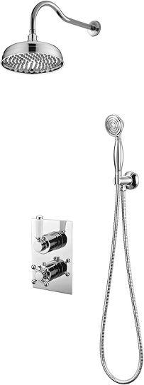 OMNIRES Termostatyczny system prysznicowy podtynkowy Retro, chrom SYSRET01CR