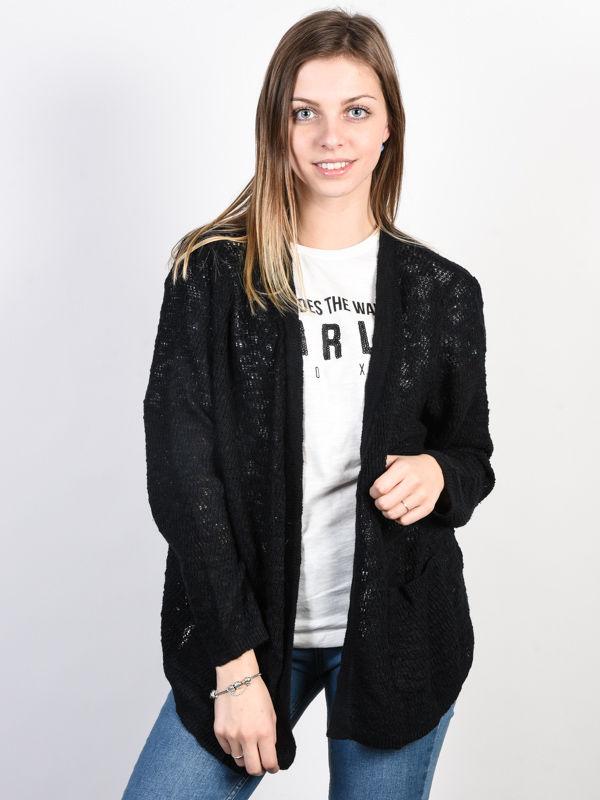 Roxy LIBERTY DISCOVER TRUE BLACK luksusowy damski sweter