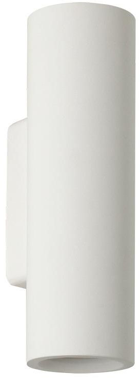 Lampex Edgar 704/1 BIA kinkiet lampa ścienna gipsowa biała 2x40W GU10 25cm