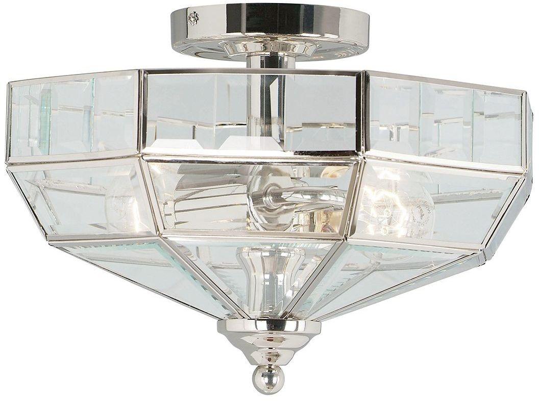 Old Park Polished Nickel - Elstead Lighting - lampa sufitowa klasyczna
