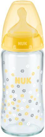 Butelka szklana NUK FC+ 240 ml smoczek lateks M (0-6m)