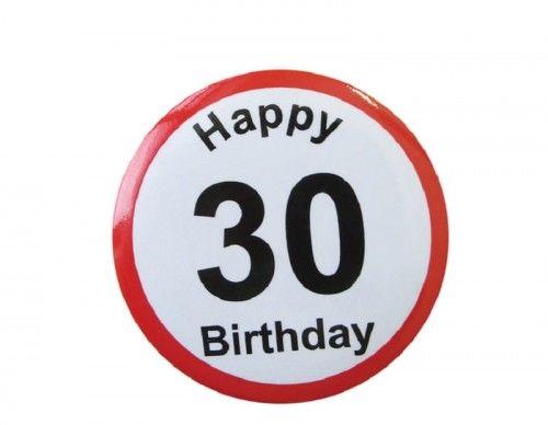 Przypinka na 30 urodziny, ZNAK