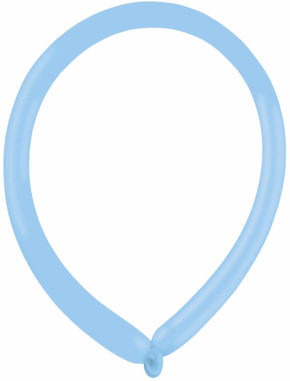 amscan 9905505 100 balony lateksowe do modelowania standard E160, pastelowy niebieski