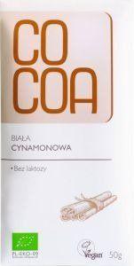 Czekolada Biała z Cynamonem 50g - COCOA
