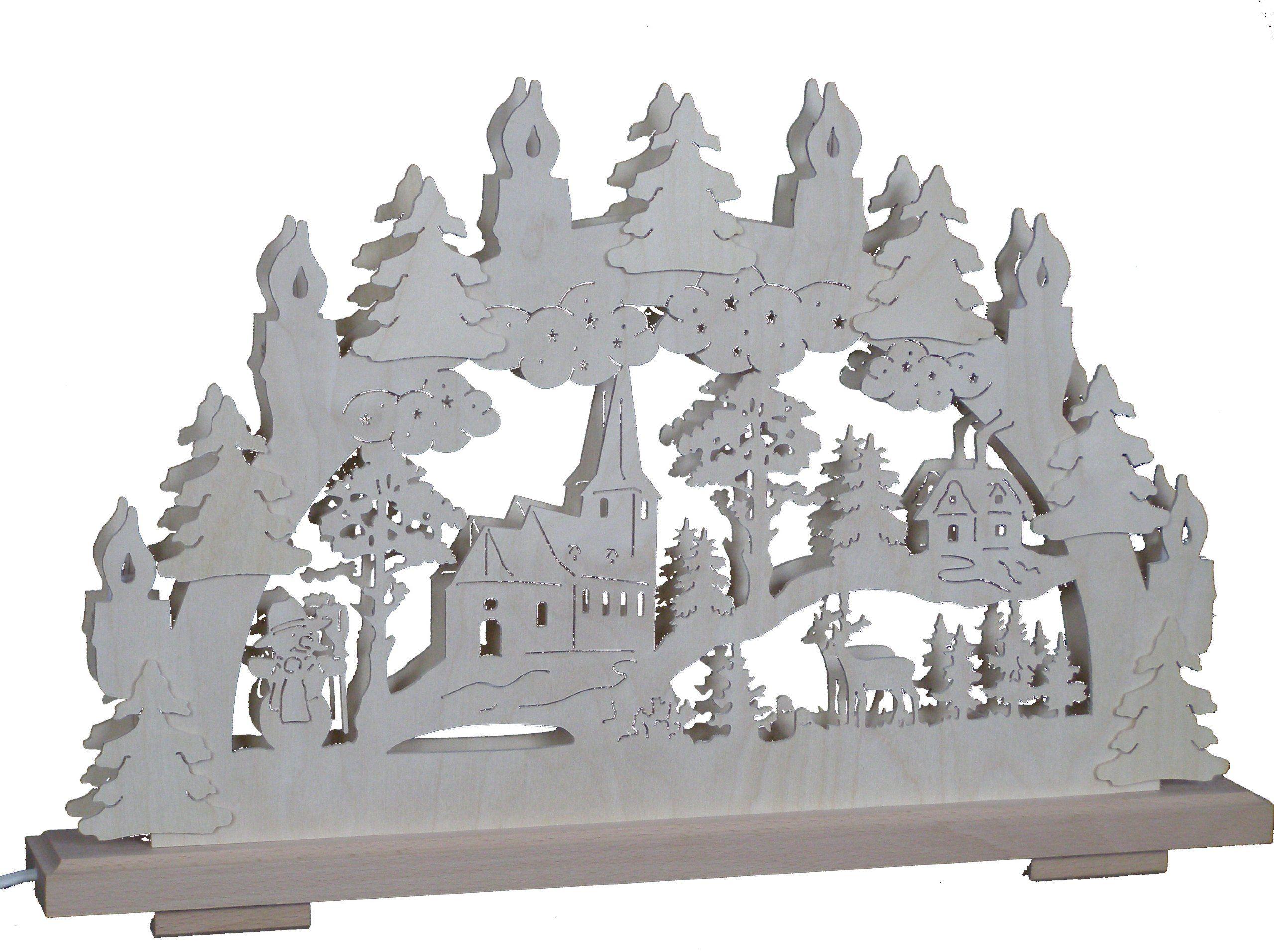 SchwibboLa SB 1-130 Schwibbogen z Rudaw podwójny świecznik z certyfikatem SB 1-130, 50 x 30 cm