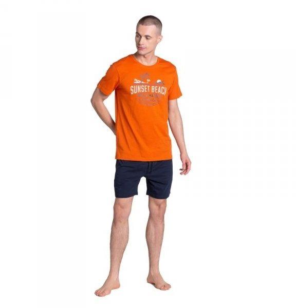 Henderson led 38867 pomarańczowa piżama męska
