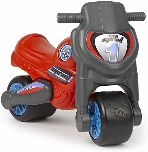 FEBER Famosa 800009163 Motofeber Sprint  rowerki dla dziewczynek od 18 miesięcy do 3 lat, czerwone