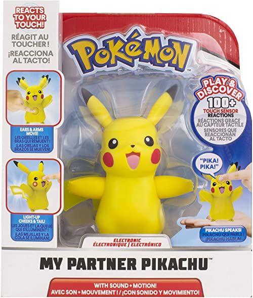 Pokemon Mój partner Pikachu figurka interaktywna