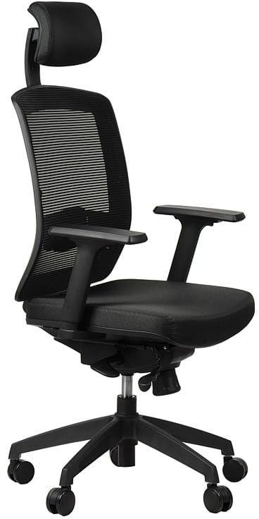 Fotel obrotowy biurowy GN-301/CZARNY z wysuwem siedziska krzesło biurowe obrotowe