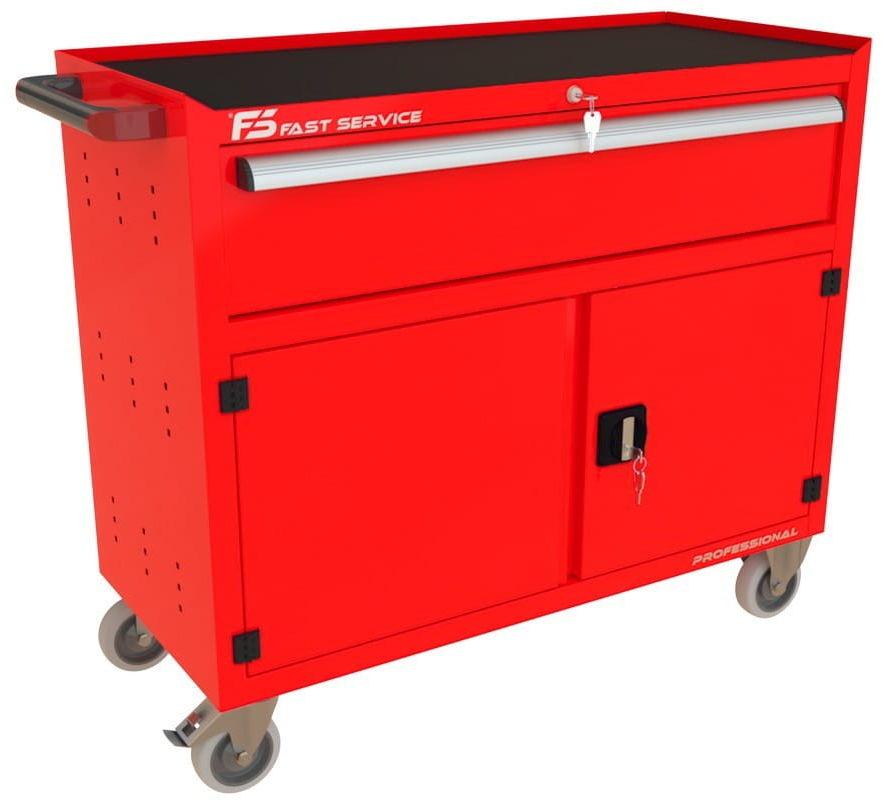 Wózek warsztatowy TRUCK z szufladą i drzwiami PT-232