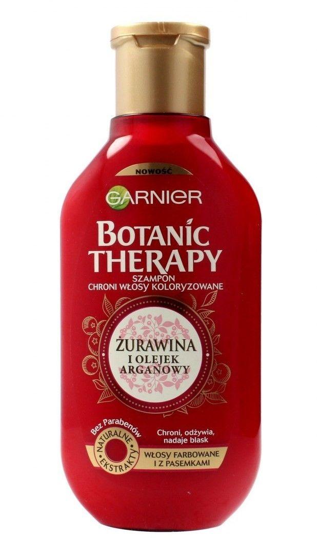 Garnier Botanic Therapy Żurawina i Olejek Arganowy szampon do włosów farbowanych i z pasemkami 400ml