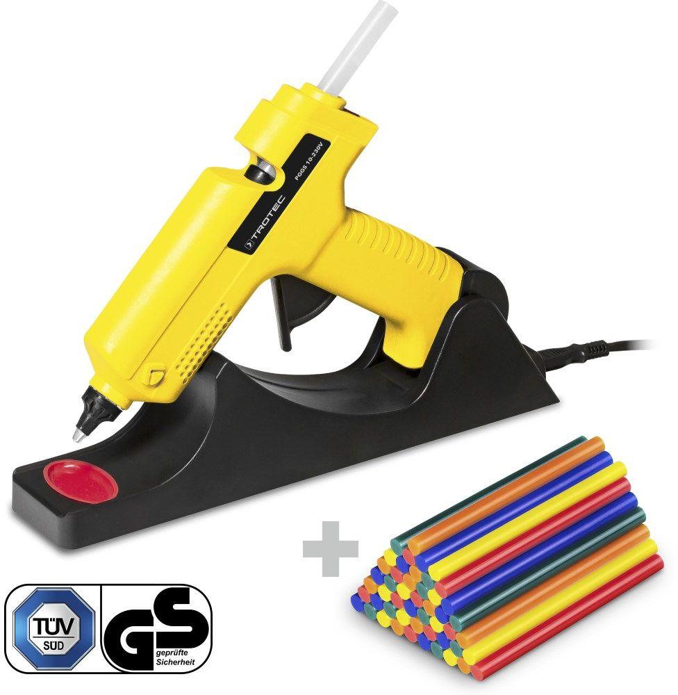 Pistolet do klejenia na gorąco PGGS 10 230V + Zestaw sztyftów kleju kolorowy, 50 sztuk (Ø 11 mm)