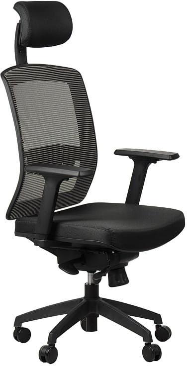 Fotel obrotowy biurowy GN-301/SZARY z wysuwem siedziska krzesło biurowe obrotowe