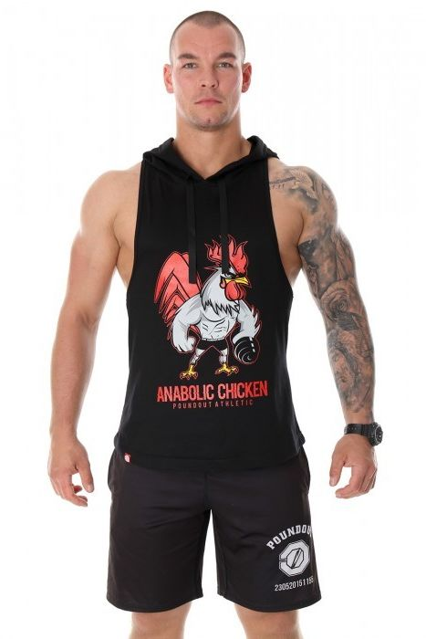 Poundout tank top bokserka z kapturem Anabolic Chicken