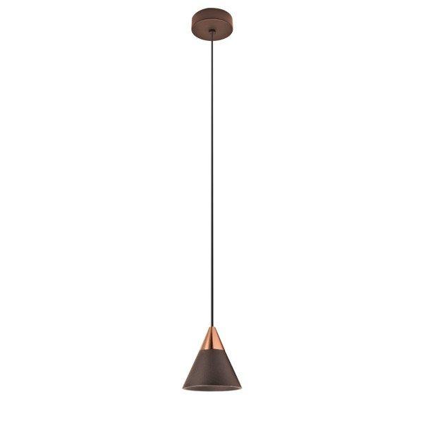 Lampa wisząca nowoczesna CONO 7W ciepła 3000K beżowy/różowe złoto śr. 7,2cm