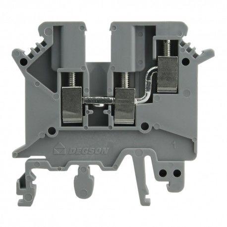 Złączka szynowa 2,5mm2 3-przewodowa Terminal szara Śrubowa DGN 3459