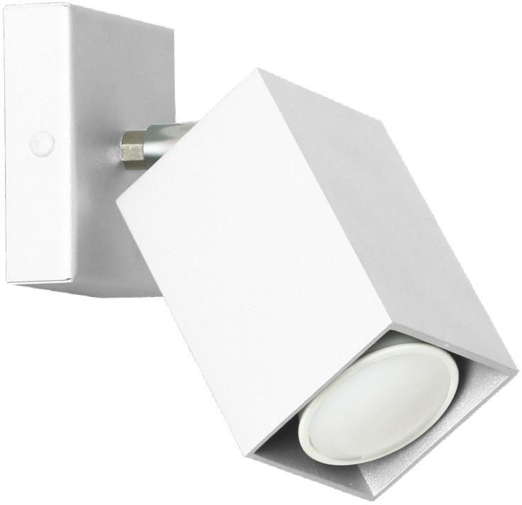 Lampex Nero biały 718/K BIA kinkiet lampa ścienna nowoczesna biały metal 1x40W GU10 17cm