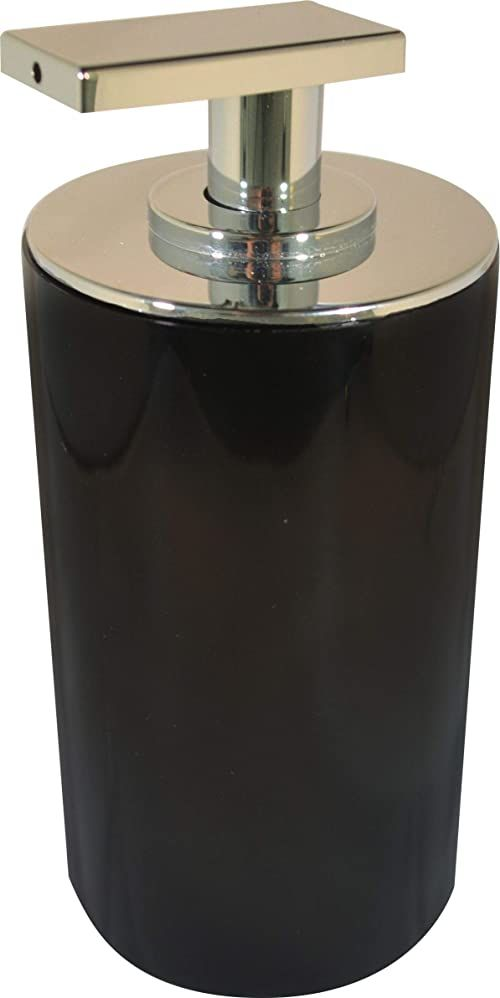 Grund PICCOLO dozownik mydła 7 x 7 x 15,5 cm czarne akcesoria, 100% żywica poliestrowa, 7 x 7 x 15,5 cm
