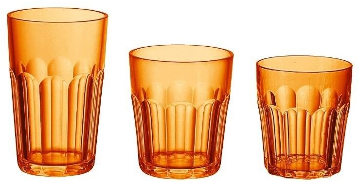 Guzzini - kubek wysoki - happy hour, pomarańczowy, 2 szt.