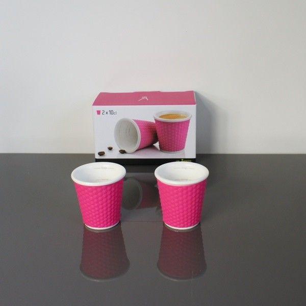 Filiżanki do Espresso - 100 ml - 2 szt. różowe