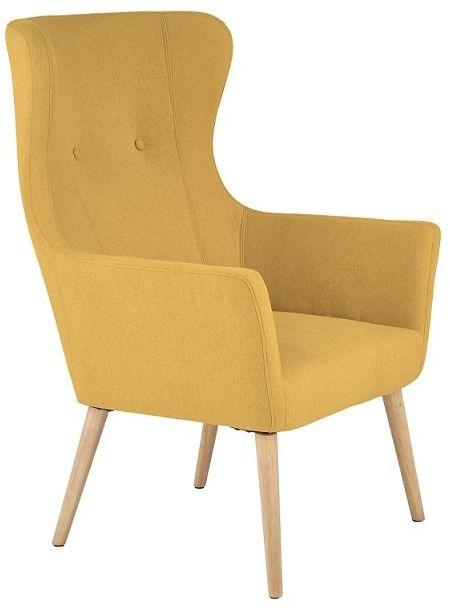 Fotel Cotto - musztardowy