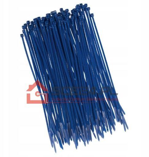 Opaski zaciskowe 3,6 x 300 TRYTKI niebieskie 100sz