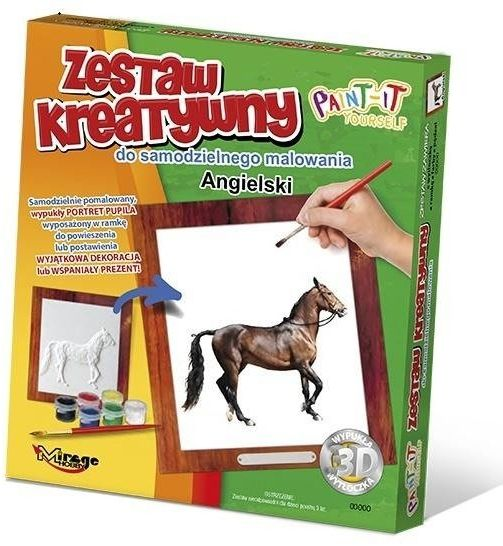Wypukła malowanka Konie - Angielski - Mirage Hobby