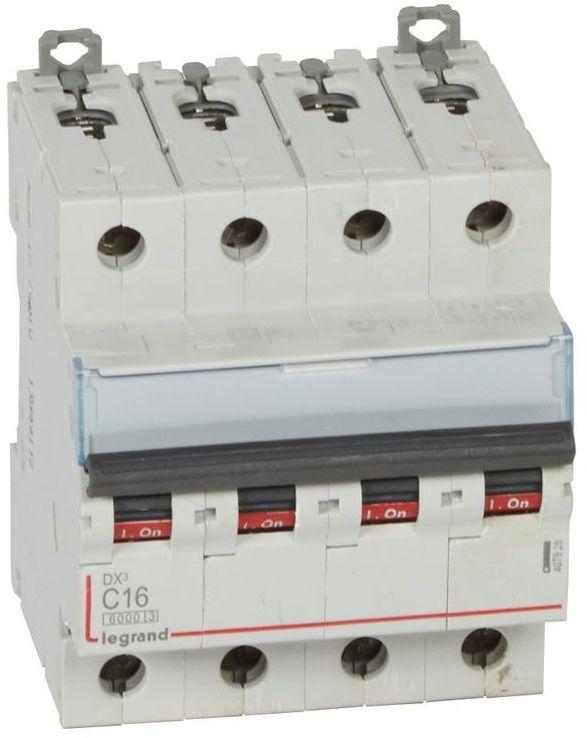 Wyłącznik nadprądowy 4P C 16A 6kA S304 DX3 407928