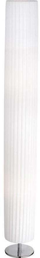 Globo lampa podłogowa Bailey 24662R chrom, tkanina biała 119cm