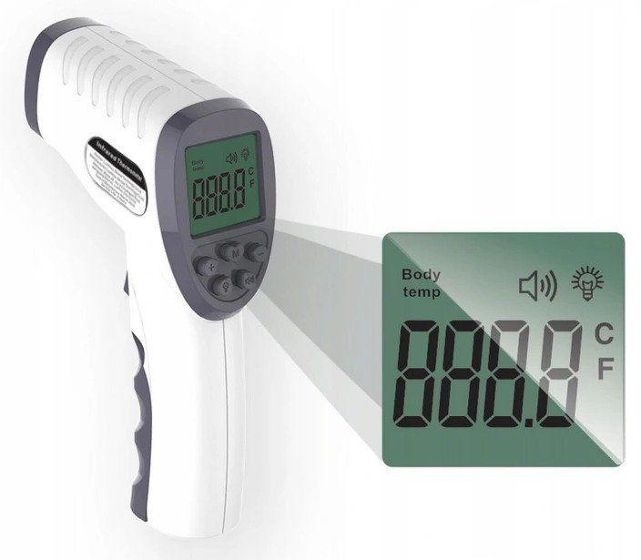 Elektroniczny termometr bezdotykowy na podczerwień MEDYCZNY 8%