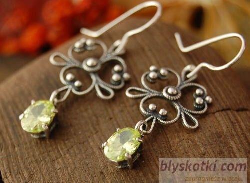 Suri - srebrne kolczyki z cytrynem