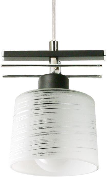 Lampex Olimp 1 723/1 CZA kinkiet lampa ścienna klasyczna metal / szkło 1x60W E27 80cm