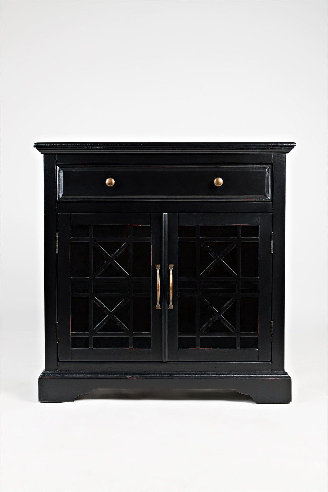 AV275-32 Komoda 2D/1S Avola Antique Black